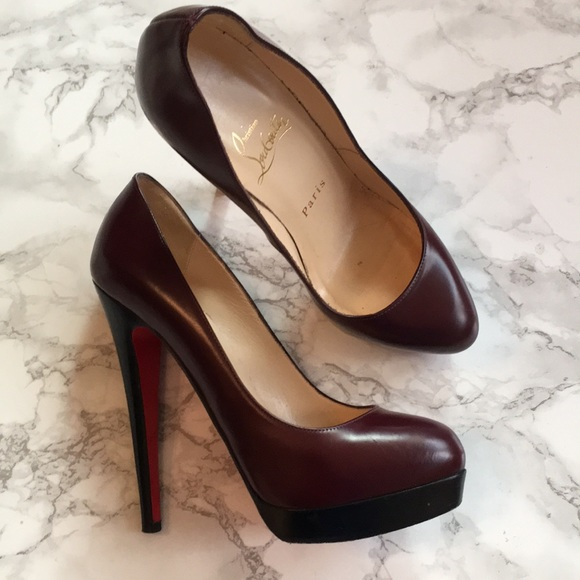 official photos cac25 41899 Christian Louboutin burgundy heels